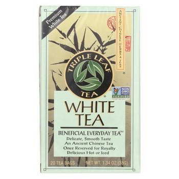 Triple Leaf Tea White Tea - 20 Tea Bags - Case of 6