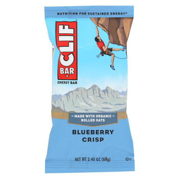 Clif Bar - Organic Blueberry Crisp - Case of 12 - 2.4 oz