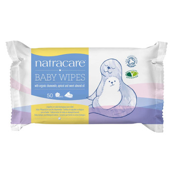 Natracare Organic Cotton Baby Wipes - 50 Pack