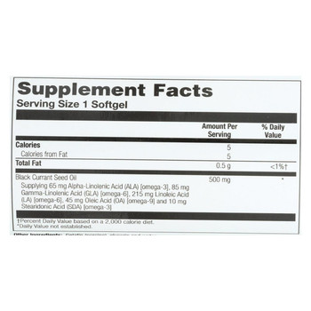 Health From the Sun Black Currant 500 - 90 Softgels