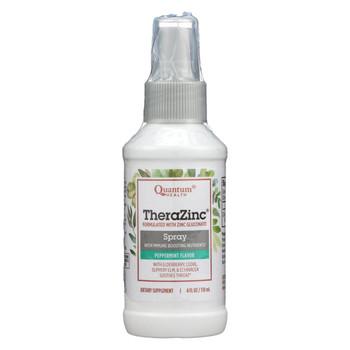 Quantum TheraZinc Spray Peppermint Clove - 4 fl oz