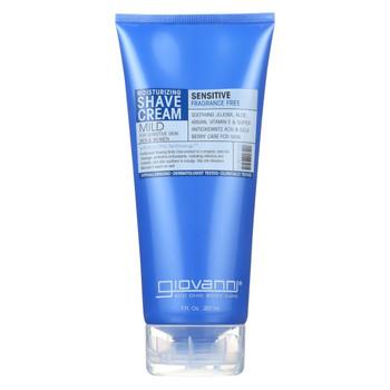 Giovanni Moisturizing Shave Cream Sensitive Skin Men and Women Fragrance Free - 7 fl oz