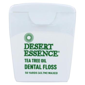 Desert Essence - Dental Floss Tea Tree Oil - 50 Yds - Case of 6