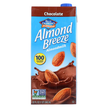 Almond Breeze - Almond Milk - Chocolate - Case of 12 - 32 fl oz.