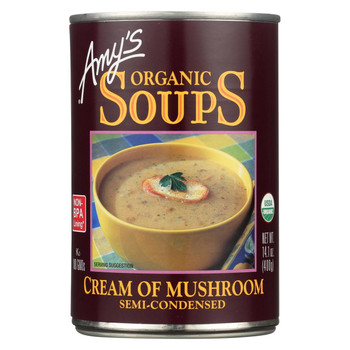 Amy's Organic Cream of Mushroom Soup - Case of 12 - 14.1 oz