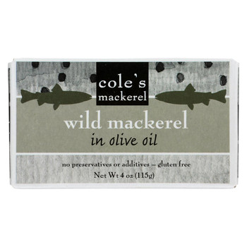 Cole's Wild Chub Mackerel in Olive Oil - 4.4 oz - Case of 10