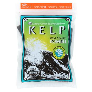 Maine Coast Organic Sea Vegetables - Kelp - Wild Atlantic Kombu - Whole Leaf - 2 oz