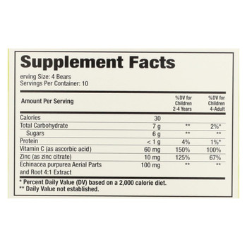 Hero Nutritionals Yummi Bears Echinacea plus Vitamin C and Zinc - 40 Chewables