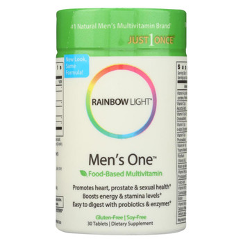 Rainbow Light Men's One Energy Multivitamin - 30 Tablets