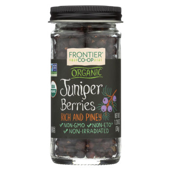 Frontier Herb Juniper Berries - Organic - Whole - 1.28 oz