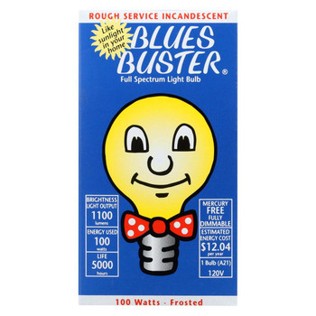 Blues Buster Light Bulb - Full Spectrum - Frosted - 100 Watt Bulb - 1 Count