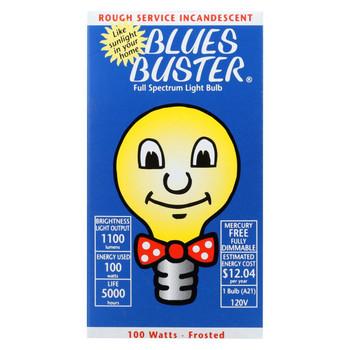 Blues Buster Light Bulb - Full Spectrum - Frosted - 100 Watt Bulb - 1 Count