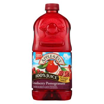 Apple and Eve 100 Percent Juice - Cranberry Pomegranate - Case of 8 - 64 Fl oz.