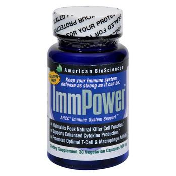 American Bio-Sciences ImmPower AHCC - 500 mg - 30 Capsules