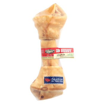 Castor and Pollux Good Buddy Bone Rawhide - Chicken - Case of 8