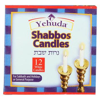 Yehuda Matzo Sabbath Candles - Case of 24 - 12 Count