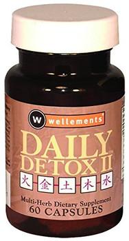 Wellements Daily Detox II Multi Herb - 60 Capsules