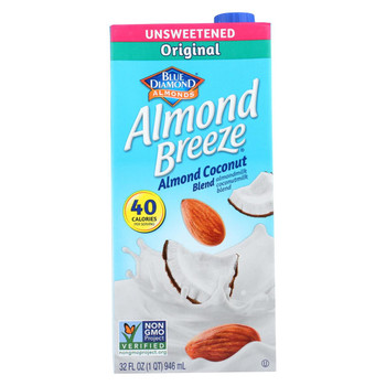 Almond Breeze - Almond Coconut Milk - Unsweetened - Case of 12 - 32 fl oz.