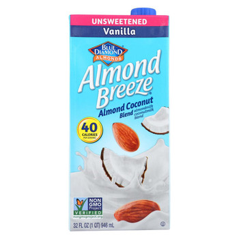 Almond Breeze - Almond Coconut Milk - Vanilla - Case of 12 - 32 fl oz.