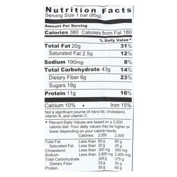 Probar Organic Peanut Butter Bar - Case of 12 - 3 oz