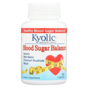 Kyolic Aged Garlic Extract Blood Sugar Balance - 100 Capsules