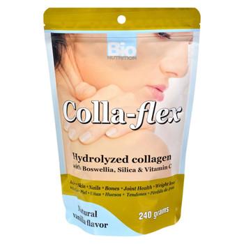 Bio Nutrition Colla-Flex Hydrolyzed Collagen Natural Vanilla - 240 g