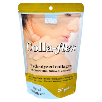 Bio Nutrition - Colla-Flex Hydrolyzed Collagen Natural Vanilla - 240 g