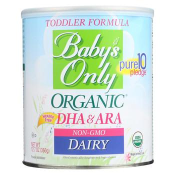 Babys Only Organic Toddler Formula - Organic - Dairy - DHA and ARA - 12.7 oz - case of 6