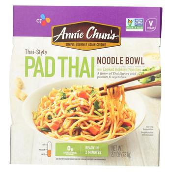 Annie Chun's Korean Pad Thai Noodle Bowl - Case of 6 - 8.4 oz.