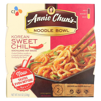 Annie Chun's Korean Sweet Chili Noodle Bowl - Case of 6 - 7.9 oz.