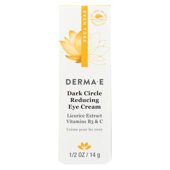 Derma E - Evenly Radiant Dark Circle Eye Creme - 0.5 oz.