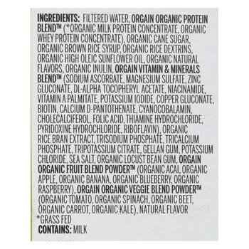 Orgain Organic Nutritional Shake - Iced Caf? Mocha - Case of 3 - 11 fl oz.