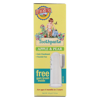 Earth's Best Toothpaste - Apple and Pear - Case of 1 - 1.6 oz.