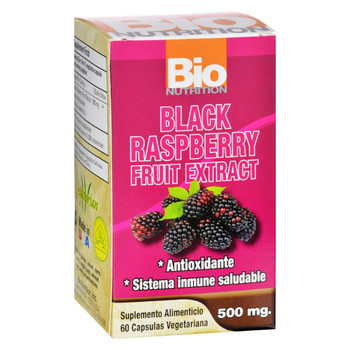 Bio Nutrition - Black Raspberry Fruit Extract - 60 Vegetarian Capsules