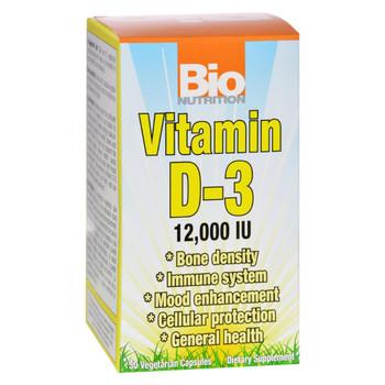 Bio Nutrition - Vitamin D-3 - 12000 IU - 50 Vegetarian Capsules