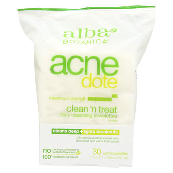 Alba Botanica - Acnedote Clean Treat Towel - 30 Pack