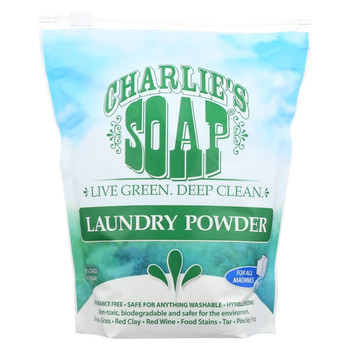 Charlies Soap Laundry Detergent - 100 Loads - Powder - 2.64 lb - case of 6