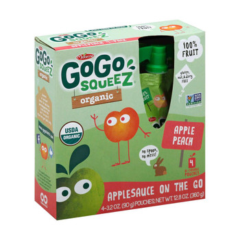 GoGo Squeeze Applesauce - Apple Peach - Case of 12 - 3.2 oz.