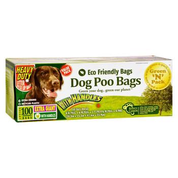 Green-n-Pack Dog Poo Bags Xtra Giant Ties - 100 Pack
