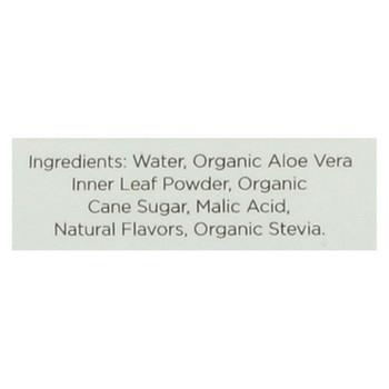 Aloe Gloe White Grape Organic Aloe Water - Case of 12 - 15.2 fl oz.