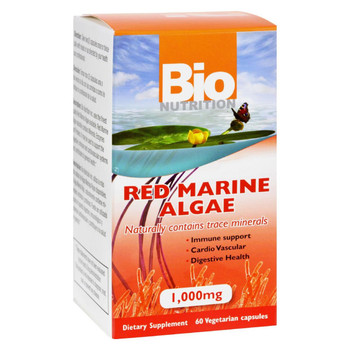 Bio Nutrition Red Marine Algae - 1000 mg - 60 Vegetarian Capsules