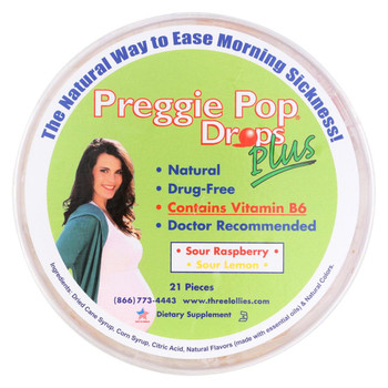 Three Lollies Preggie Drops Plus with Vitamin B6 - 21 Pack