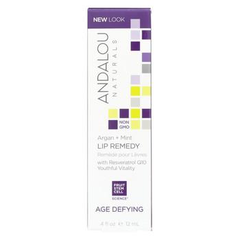 Andalou Naturals Lip Remedy Argan + Mint - .4 oz