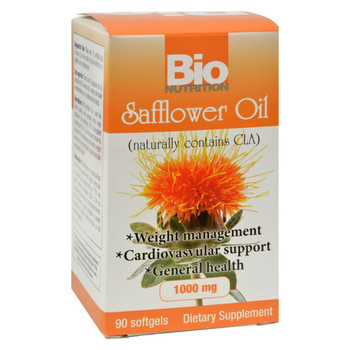 Bio Nutrition - Safflower Oil - 90 Softgels