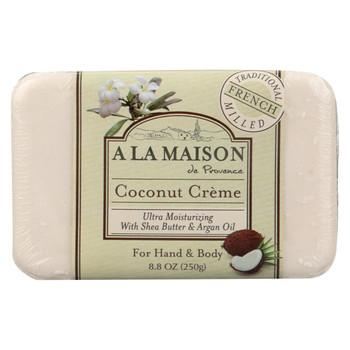 A La Maison Bar Soap - Coconut Creme - 8.8 oz