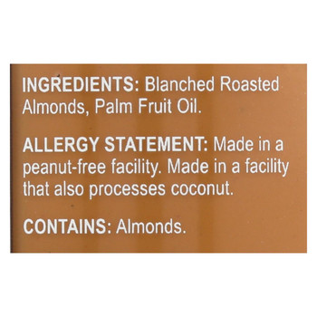 Barney Butter Almond Butter - Bare Smooth - Case of 6 - 10 oz.