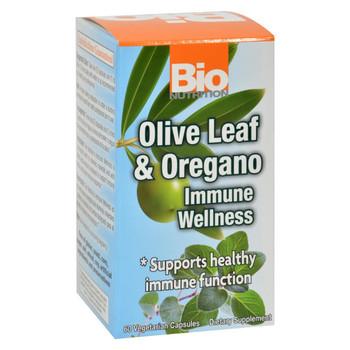 Bio Nutrition Immune Wellness - Olive Leaf and Oregano - 60 Vcaps