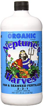 Neptune's Harvest Fish and Seaweed Fertilizer Blend - Blue Label - 36 oz