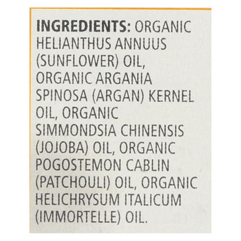 Aura Cacia Organic Face Oil Serum - Argan - 1 fl oz