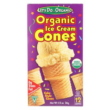 Let's Do Organics Ice Cream Cones - Organic - Case of 12 - 1.2 oz.